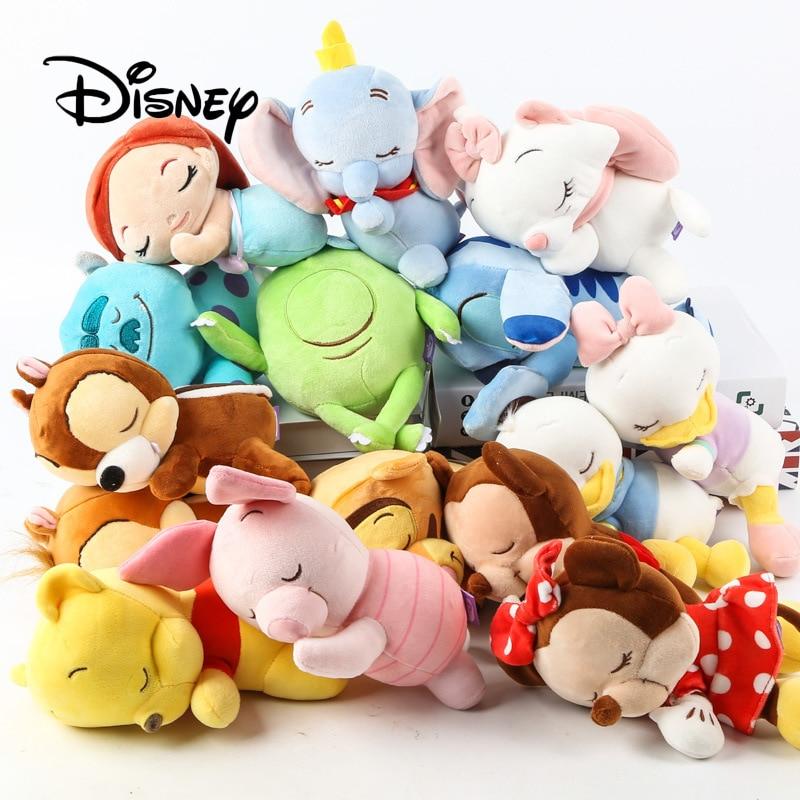 cc173dad7f Disney 7 polegada Bebês Bonitos Do Bebê Mickey Minnie Pato Donald Tigger  Marie Stich Winnie The Pooh Sereia Boneca de Brinquedo de Pelúcia crianças  ...