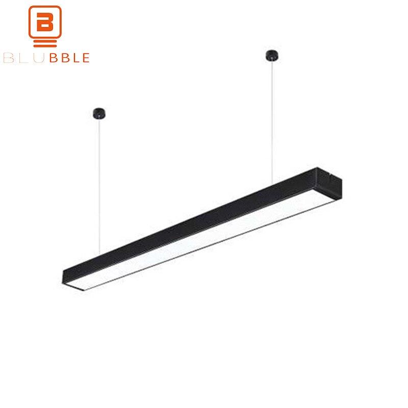 BLUBBLE Aluminum Pendant Light Modern Long Tube Hanging Lamp Pendant Lamp AC 110-240V Bedroom Dormitory Study Corridor Hanglamp zg9046 pendant light ac 110 240v