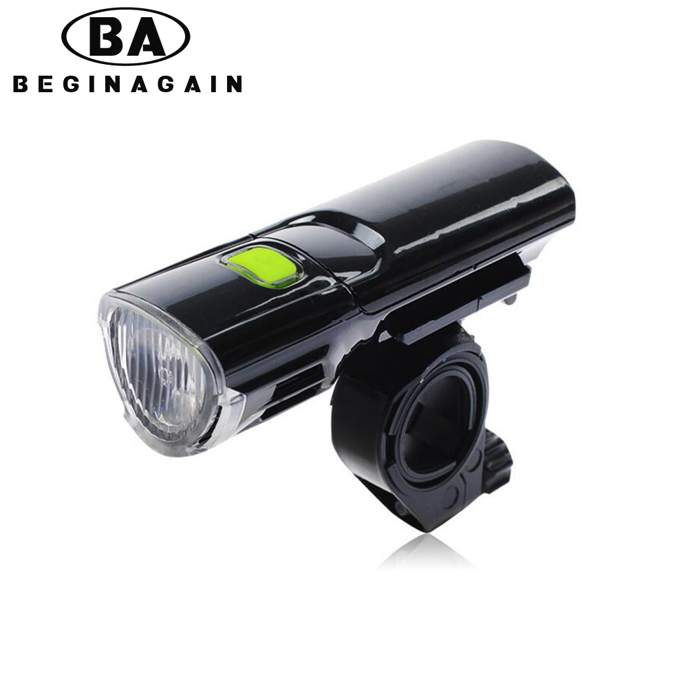 BEGINAGAIN Bike Light Bicycle Front Torch Waterproof + Holder LED Flashlight Handlebar Headlight MTB Road Bicycle Accessories(China (Mainland))