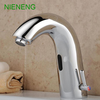 NIENENG sensor faucets bathroom sink faucet hot cold water automatic hospital taps appliance basin mixer restaurant tap ICD60235