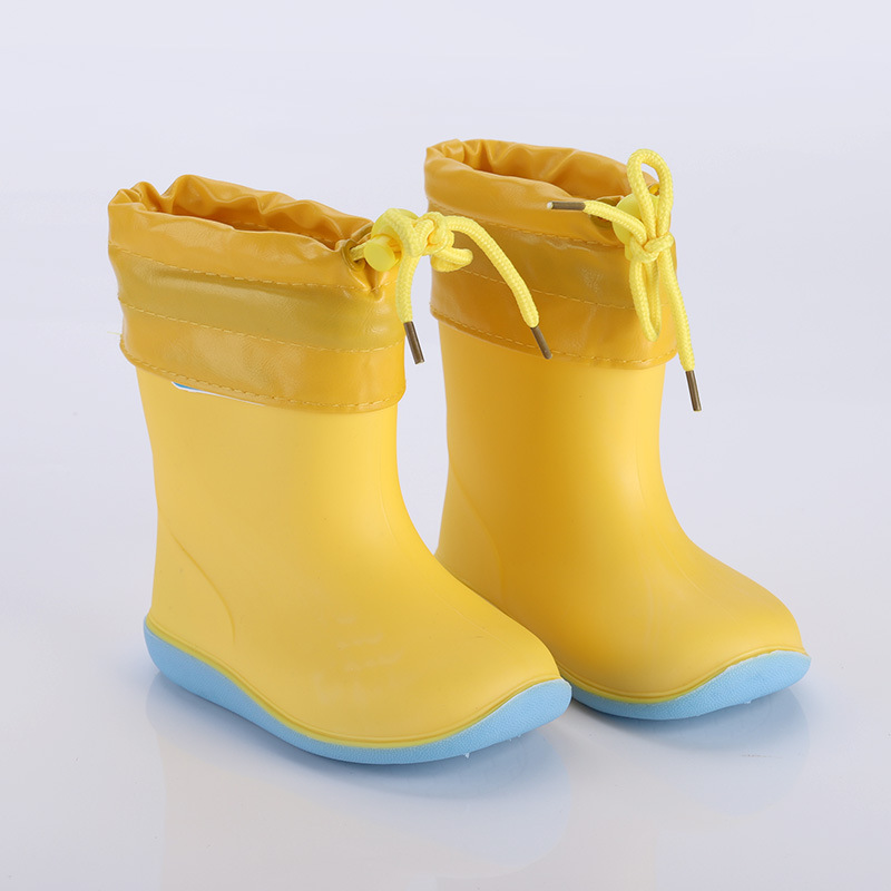 Rain Boots Girls For Boys Waterproof Rubber Boots Kids Non-slip Baby Water Shoes Warm Children Rainboots Four Seasons Removable