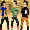 Free shipping fall/winter boy clothes new temperament glasses pocket turtleneck bottoming shirt long-sleeved T-shirt