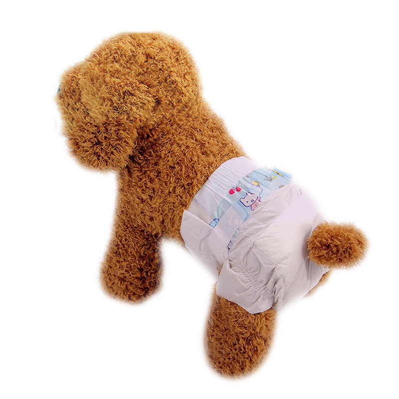 Pet Diapers Puppy Disposable Nappies Comfy Breathable Physiological Pants Female Dog Menstrual Sanitary Pants 10PCS