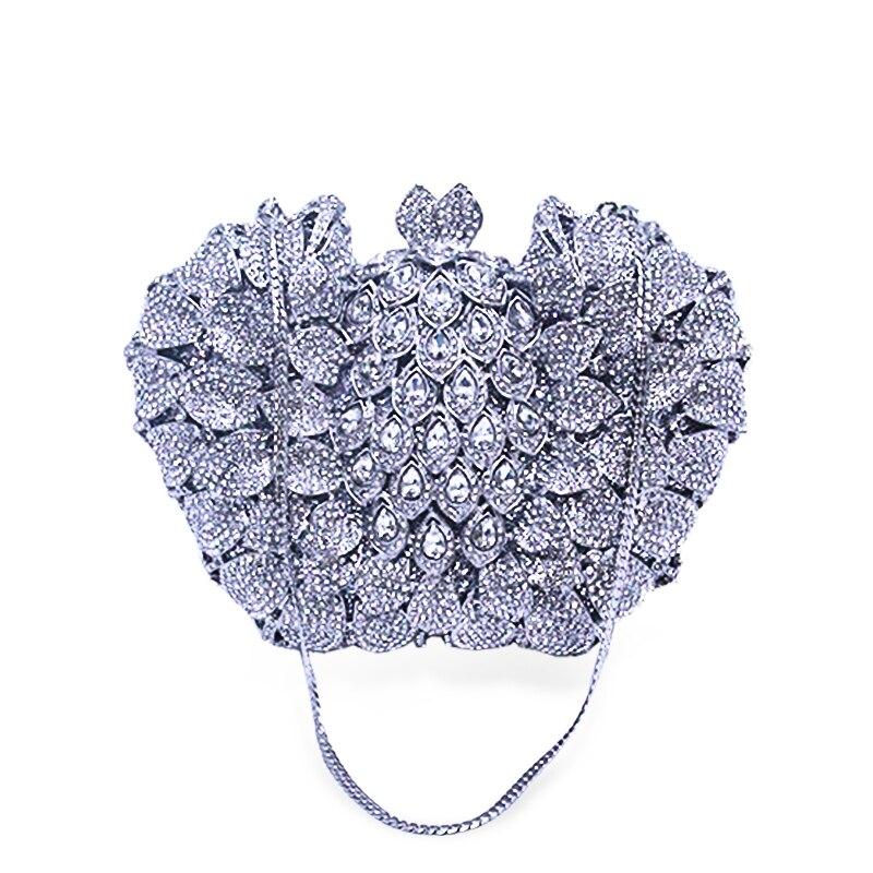 Main Chaliwin Pierre Diamant Sacs La Designer À Glod Rewark Portemonnaie Sac Mariage Luxe Femmes De silver Fête Cristal Embrayages Dame Chaîne Avec Soirée Ip5Iqrw