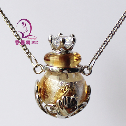1PCS Murano Glass Perfume Ball Necklace s