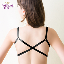 PAERLAN Wireless front button female lace bra small thick push up cross lingerie