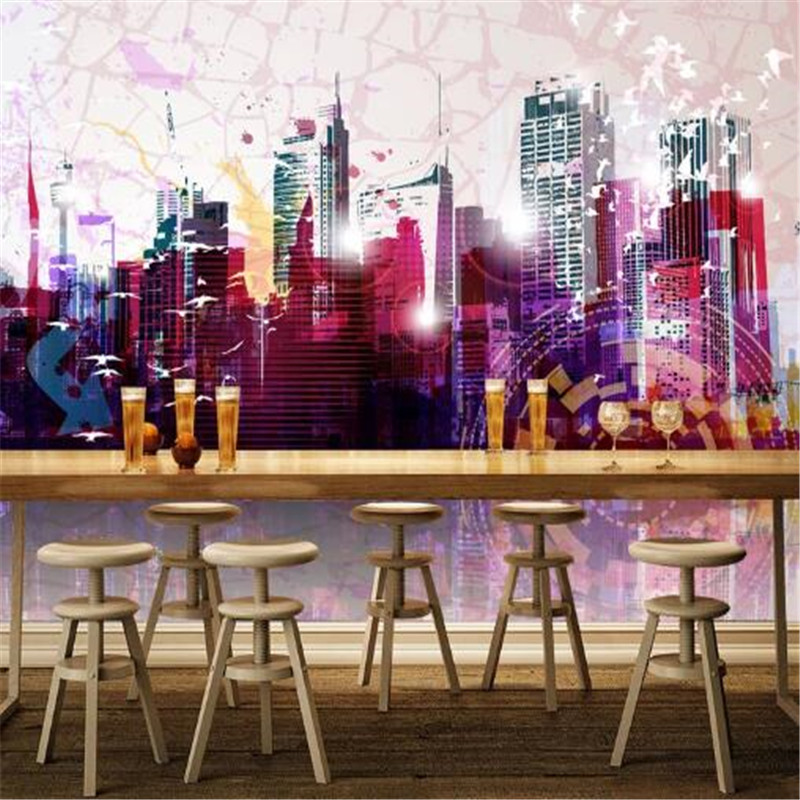 Modern Custom Mural 3D Classic City Wallpaper for Walls 3D Buildings Landscape Wall Covering Living Room Home Decor Street View custom 3d stereo ceiling mural wallpaper beautiful starry sky landscape fresco hotel living room ceiling wallpaper home decor 3d