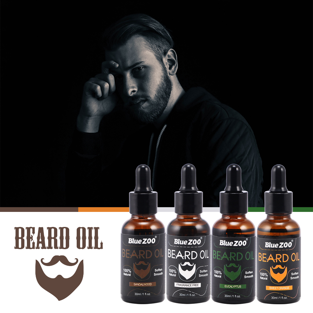Men Moustache Cream Beard Oil Kit Beard Wax balm Hair Loss Products Leave-In Conditioner for Groomed Beard Growth TSLM2 image