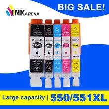 Ink-Cartridges PGI-550 Canon Pixma MG5650 IP7250 MG7150 551 for Mg5450/Mg5550/Mg5650/..