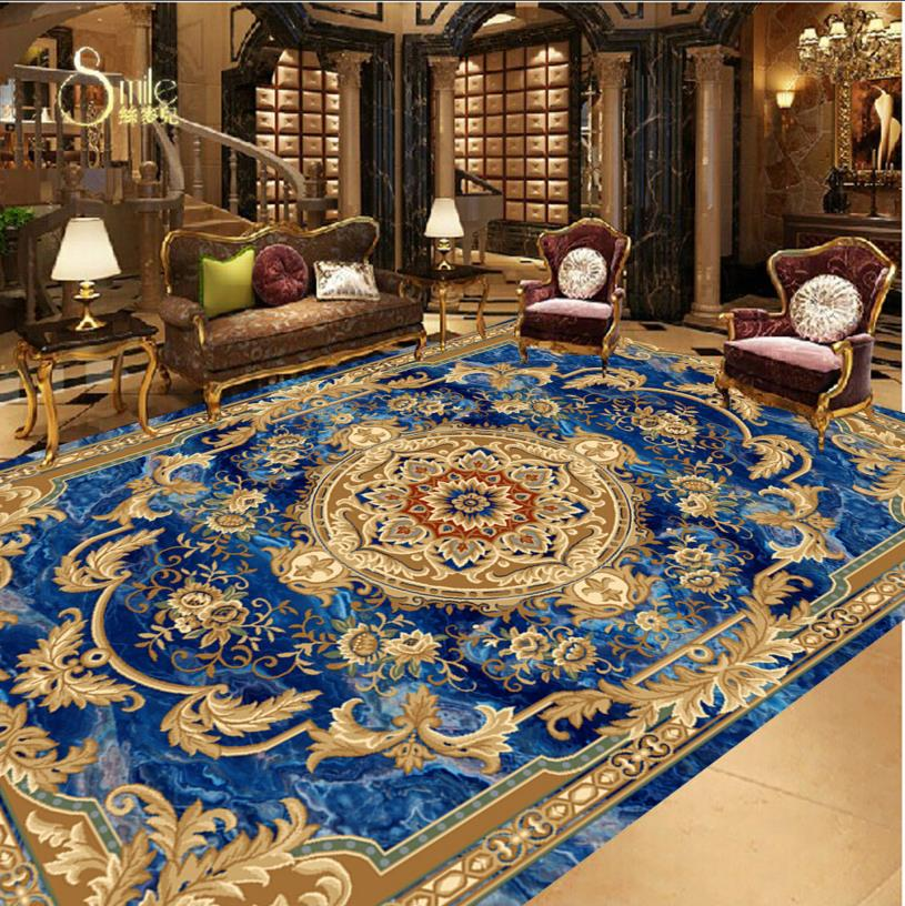 European style Marble 3D Flooring carpet decorations For Home ...