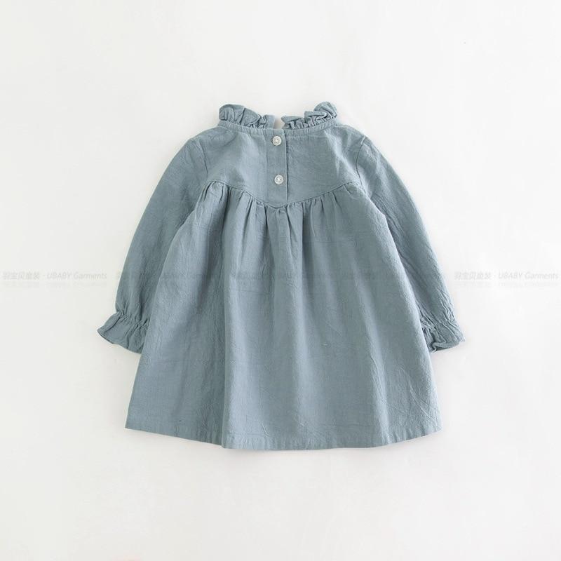 Mazumtirdzniecības bērnu meiteņu pavasara kokvilnas un lina kleita - Bērnu apģērbi - Foto 2