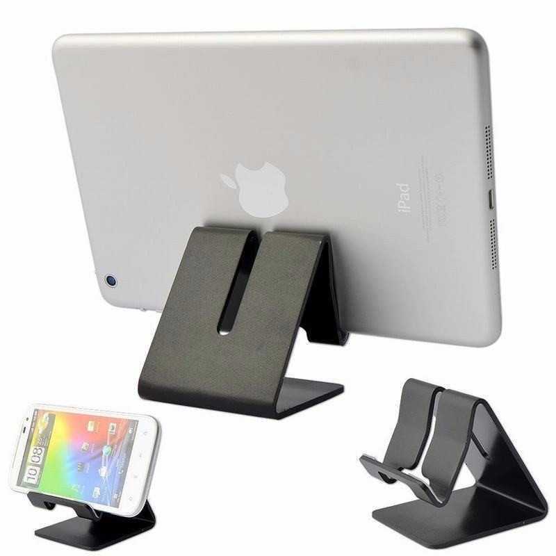 Portefeuille Aluminum Desktop Tablet Stand for iPhone 3G 3GS 4 4S 5 5C 5S 6 6 Plus Ipad 2 3 4 Mini iPod touch Samsung Galaxy S7