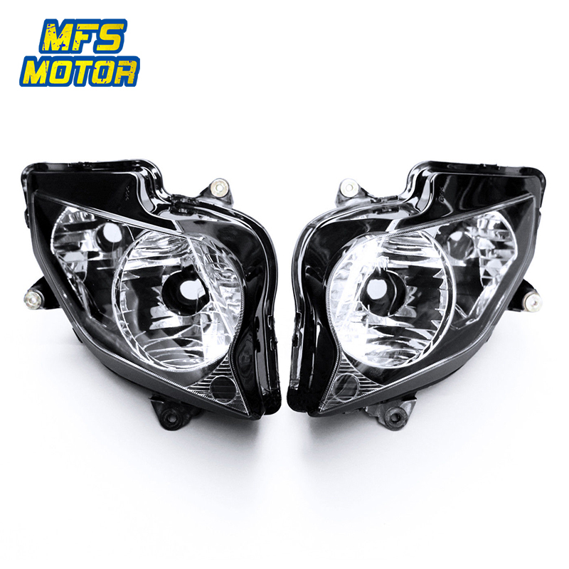 For 02 12 Honda VFR800 VFR 800 Motorcycle Front Headlight ABS Head Light Lamp Headlamp Assembly 2002 2003 2004 2012 - title=