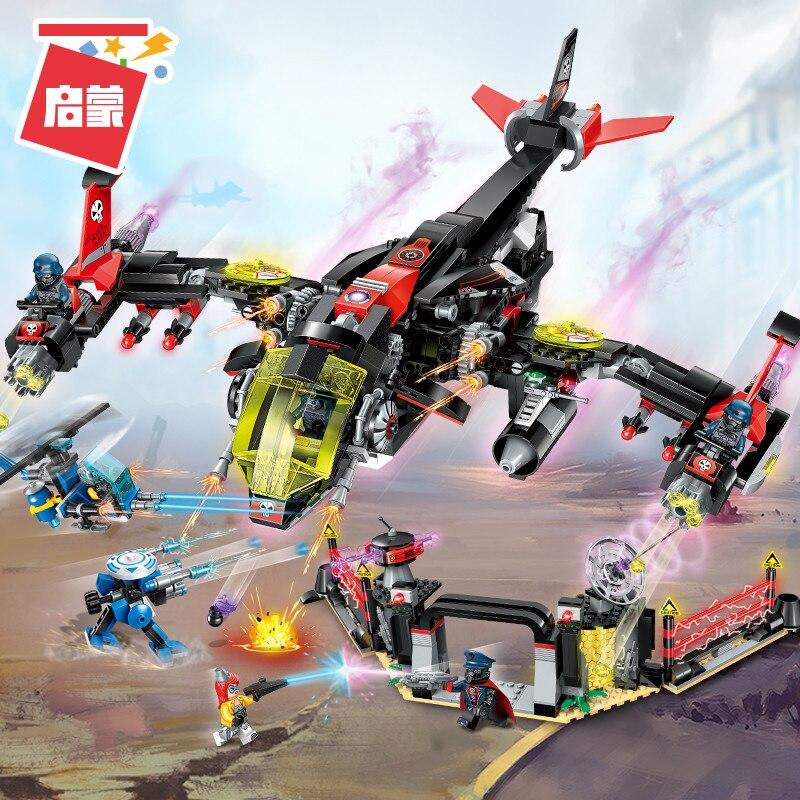 Enlighten Building Block High Tech Era Night fighter 6 Figures 1006pcs Educational Technic Bricks Toy For Boy Gift