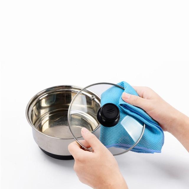 Serviette de nettoyage de vitres en microfibre | 3 pièces, serviette de cuisine en verre Absorbable, chiffon de nettoyage de vitres de voiture, serviette de nettoyage de vaisselle, Pack nouveau