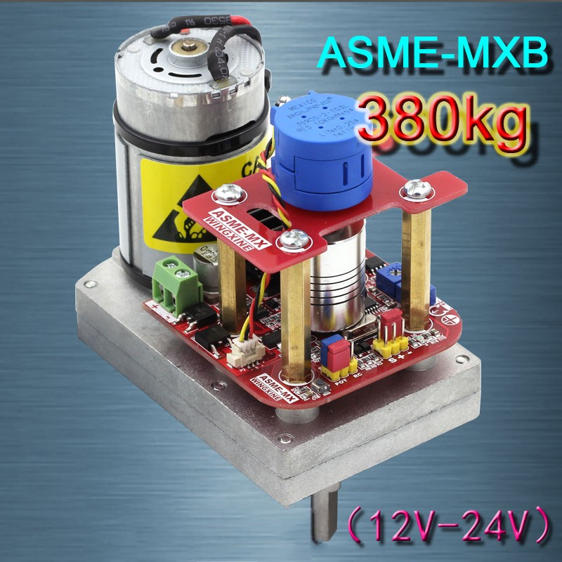 High Torque Servo DC 12V~24V 380kg.cm Steel Gear 3600 Degree for Large Robot ASME-MXBHigh Torque Servo DC 12V~24V 380kg.cm Steel Gear 3600 Degree for Large Robot ASME-MXB