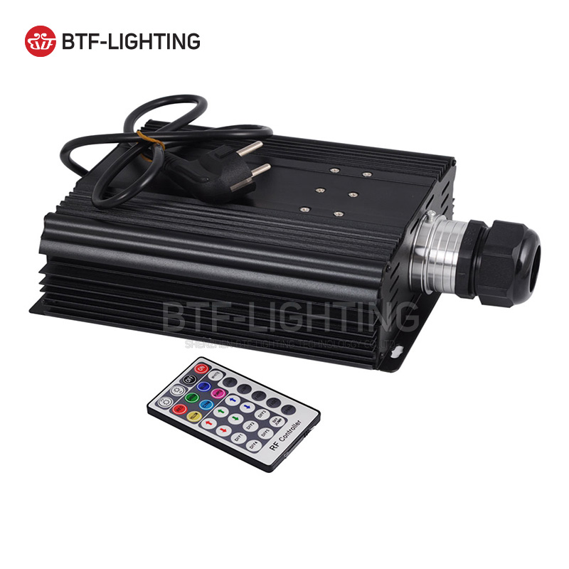 Wholesale RGB 75W LED Fiber Optic Engine 28key RF Remote controller for all kinds fiber optics 8 kinds of color,6 changing mode wholesale rgb 45w led fiber optic engine wifi voice control via app for all kinds fiber optics