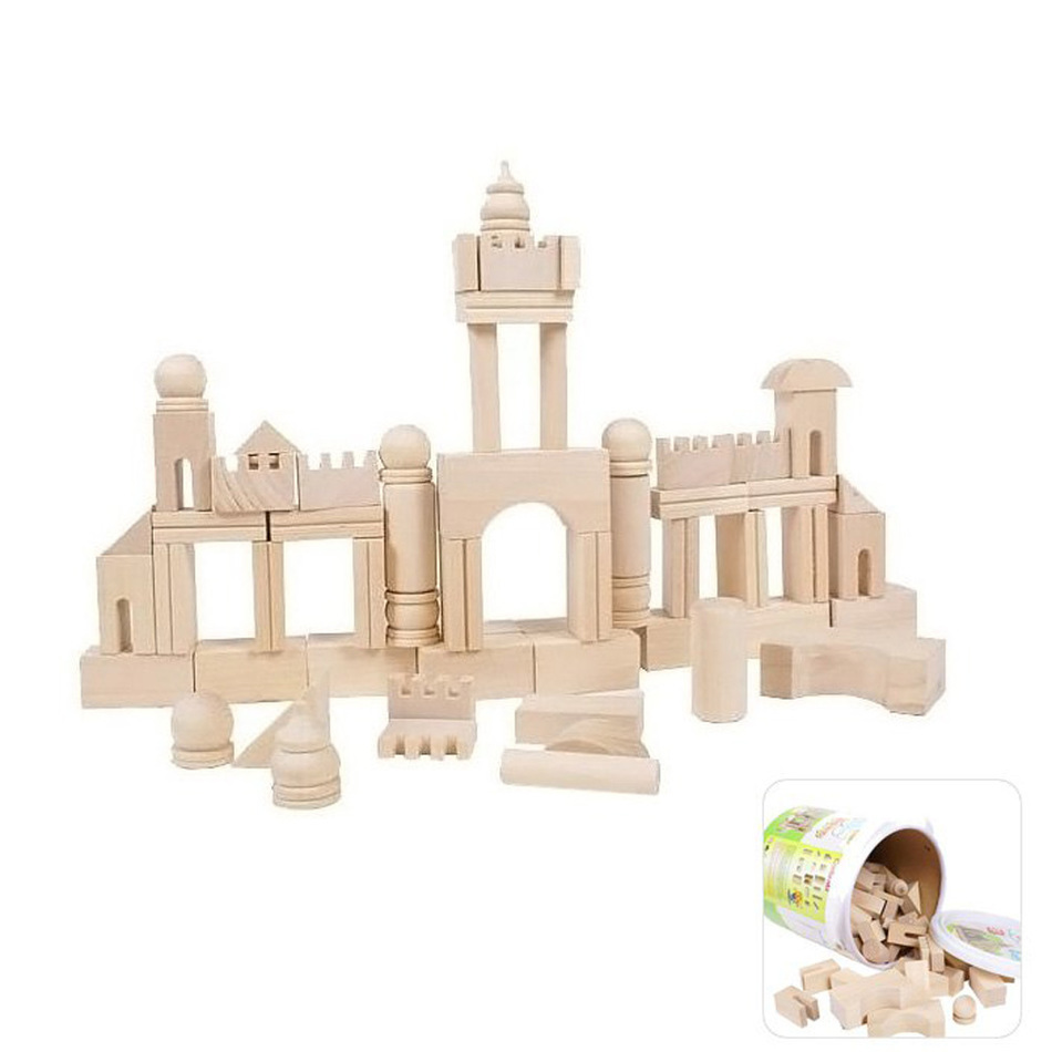 New 65Pcs High Quality DIY Model Wooden Building Assemble Puzzle New Design Early Learning Educational Toy Kids Christmas Gifts wooden geometric puzzle board baby kids early educational jigsaw puzzle toy high quality models