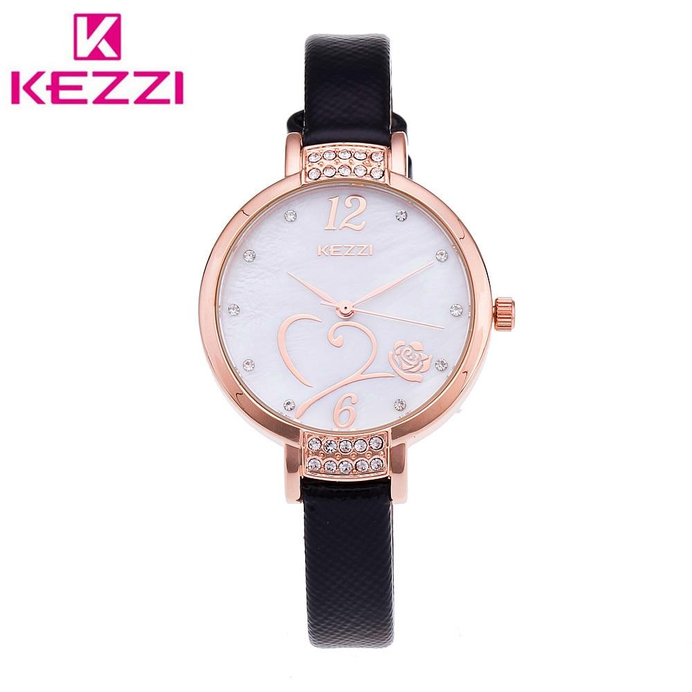 все цены на  KEZZI K-1411 Brand Fashion Women Rhinestone Wristwatch Ladies Luxury Brand Quartz Watch Relogio Feminino Gift KZ37  онлайн