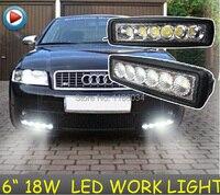 Free Ship 6inch 18W 10 30V LED Working Light 3pcs Set Black White 1440LM 6500K For