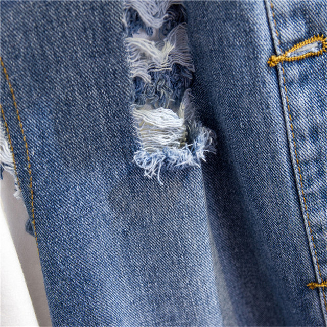 Denim gilets femmes printemps automne mince simple trou de poitrine sans manches veste 2019 sauvage moyen long femme Denim gilet JIA238