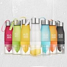 7 Farben Matt auslaufsichere Plastikbecher 650 ml Zitrone Tasse H2O Tragbare Sportwasserflasche Für Outdoor-Sport lauf Camping