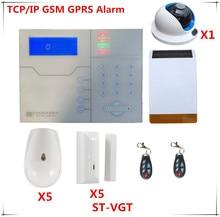 2018 Wireless TCP/IP Alarm System GSM Burglar Alarm Home Security Alarm System With HD Wifi Camera