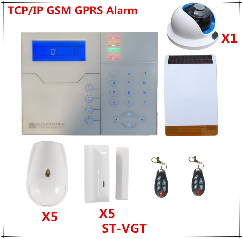 French Voice Prompt Wireless TCP/IP Alarm System GSM Burglar Alarm Home Security Alarm System With HD Wifi Camera free shipping etiger s3b wireless security alarm system with gsm transmitter 433mhz es cam2a wifi hd 720p day night ip camera
