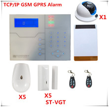 French Voice Prompt Wireless TCP IP Alarm System GSM Burglar Alarm Home Security Alarm System With
