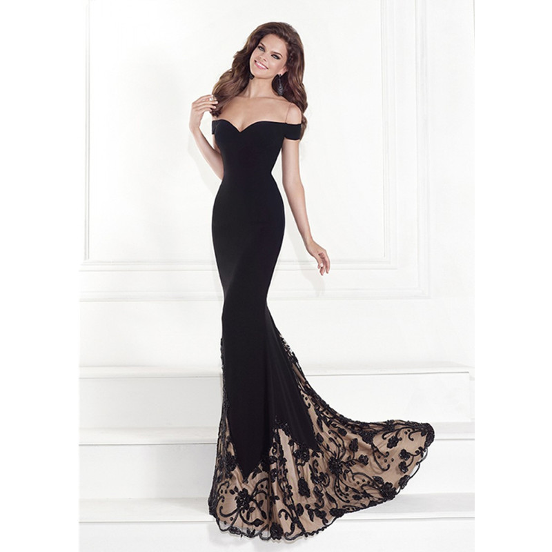 Black Evening Gowns Elegant Mermaid Evening Dresses 92525 vestidos ...