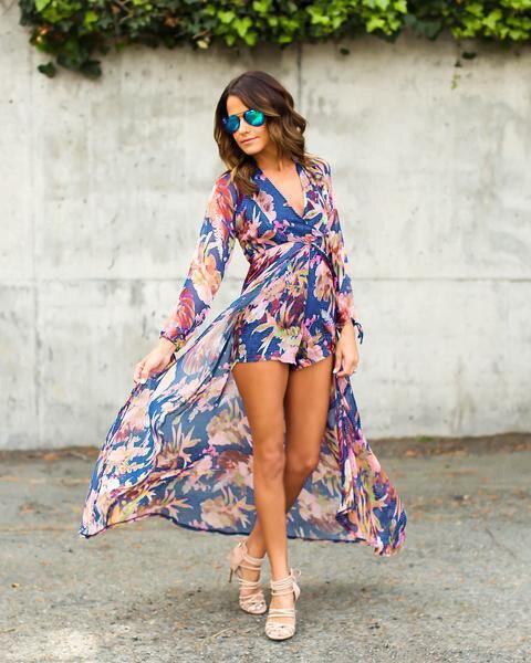 Qa377 новые модные повседневные пляжное платье женская летняя обувь макси с принтом длинные шифоновые платья Сарафан Плюс Размер