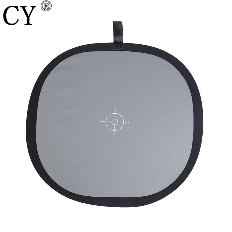 Pro Photography 30cm Wihte Balance Folding Grey Card Double Face Camera Reflector 18% Gray Soft Light Photo Studio Accessories