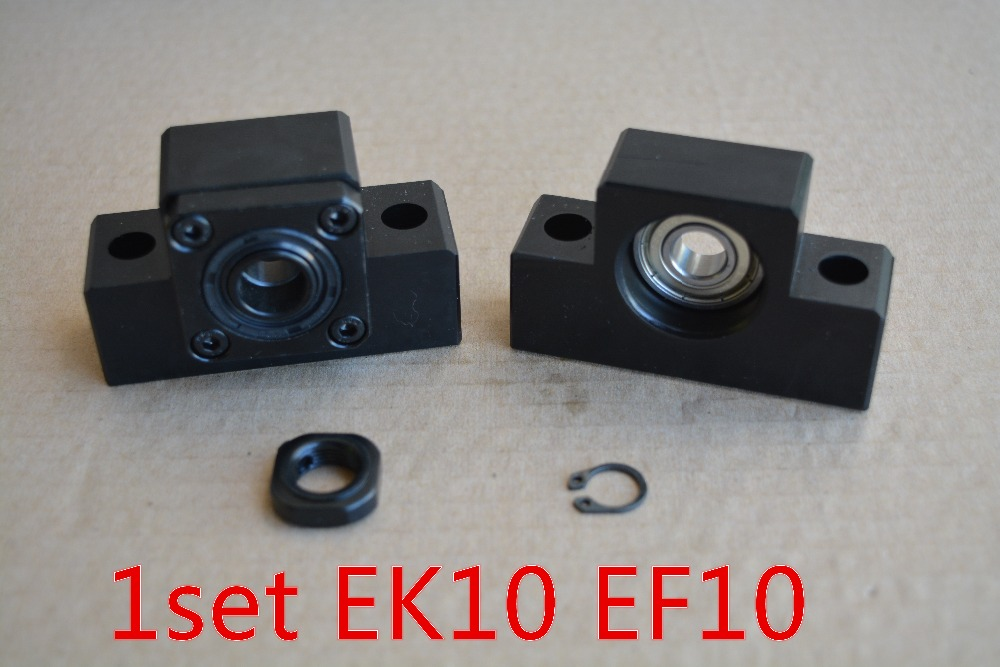 EK10 fixed end with EF10 support for ballscrew...