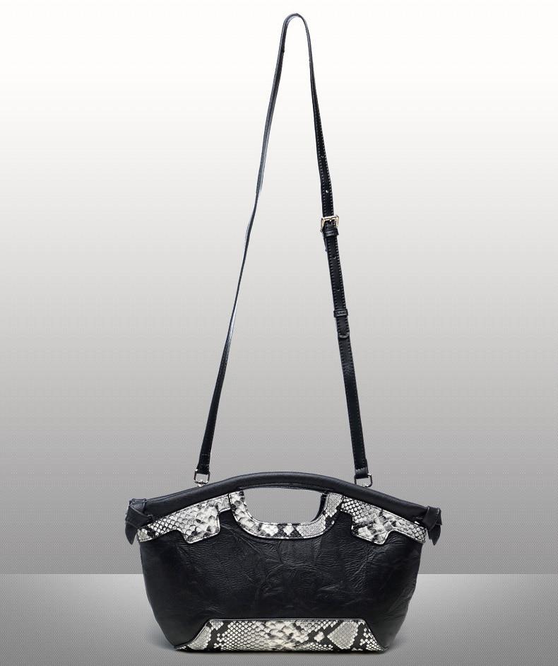 Dame prave kože Retro torbu Luksuzni Žene torba Serpentine Večer - Torbe - Foto 6