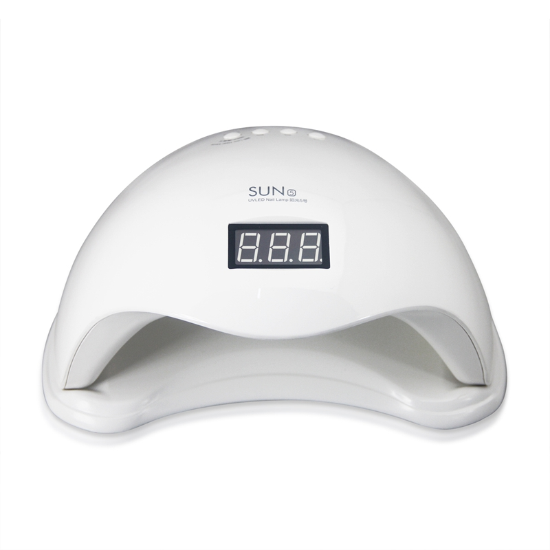 UV Nail Lamp 48W 50000h Dual UV LED Nail Lamp Nail Dryer Gel Polish Curing Light with Bottom 30s/60s Timer LCD display