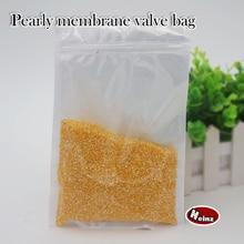 Купить с кэшбэком 9*12cm Translucent white pearly membrane valve bag /Accessories /Mobile phone shell /Food /Ornaments bags. Spot 100/ package