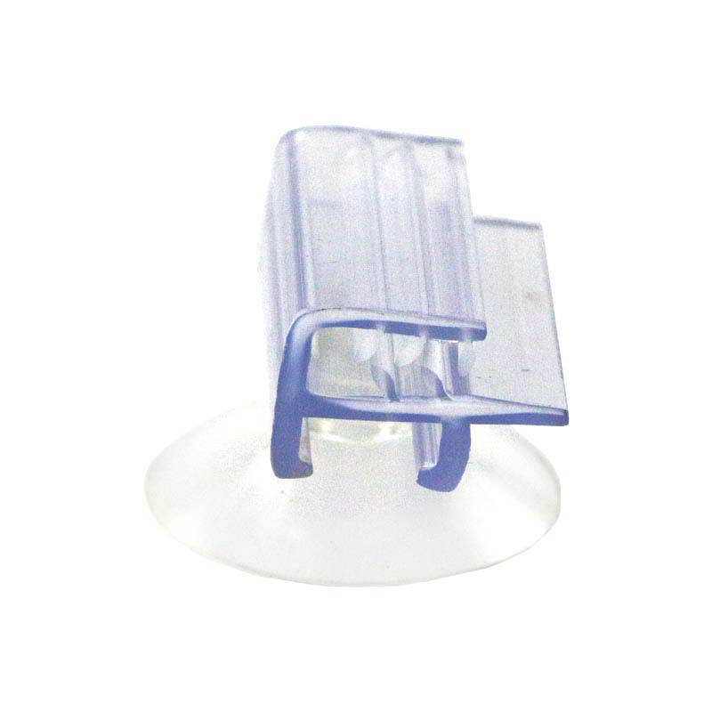 Suction Cup Flush Mount With Soft Gripper Window Glass Wall Shelf Rack Price Tag Holder Show Pvc Flag Sign Hanger Toothed Clips