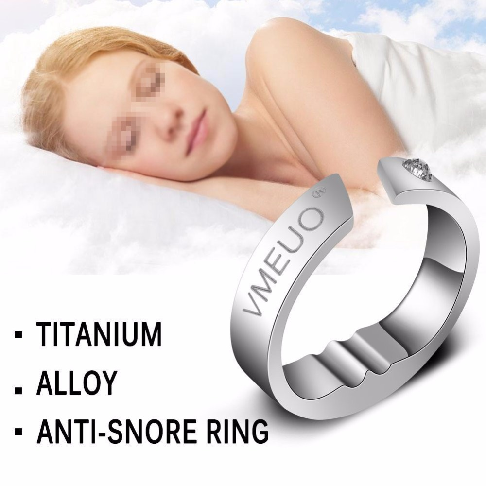 1 pcs Anti Snoring Ring Stopper Sleeping Breath Aid Acupressure Treatment Stop Snore Device Health Care Finger Jewelry Ring