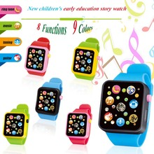 Montessori Electronic Watch Toys For Kids 8 Major Functions 9 Colors Music Toy Clock Up Watch Funny Things For Baby