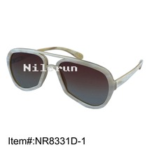 Trend model pilot type irregular large horn body sun shades with gradient brown lenses
