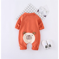 Newborn Infant Baby Girl Boy Clothes Cute 3D Panda Romper Turn Down Collar Jumpsuit Playsuit Autumn