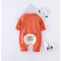 Newborn Infant Baby Girl Boy Clothes Cute 3D Panda Romper Turn Down Collar Jumpsuit Playsuit Autumn