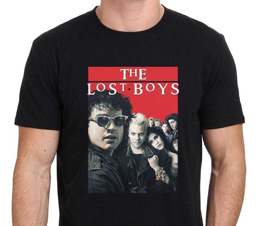 f195931b9e8 The Lost Boys 80s Vintage Movie Horror Men s T-Shirt Black Size  S-to-3XL  O-Neck Hipster T Shirts Man Boy T-Shirt