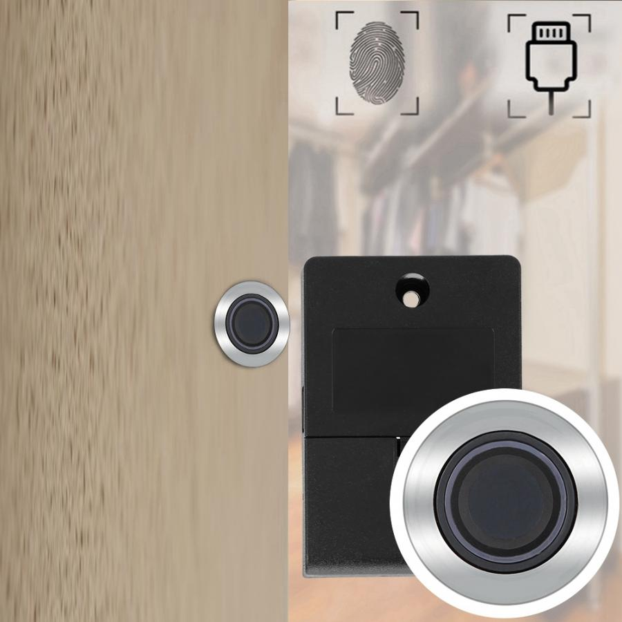 Biometric Fingerprint Lock Semiconductor Keyless Cabinet Lock Fingerprint Drawer Office File Cabinet Security Smart Door Lock in Cabinet Locks from Home Improvement