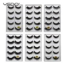 YSDO 5 pairs vizon kirpik doğal uzun makyaj 3d vizon takma kirpikler 3d yumuşak kabarık lashes cilios vizon hacimli kirpikler
