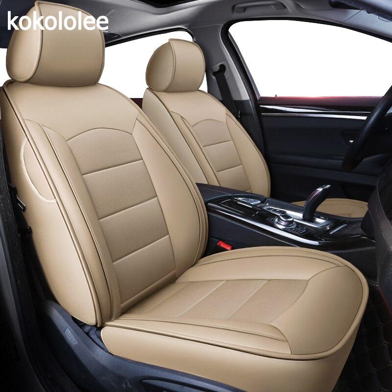 Kokololee personnalisées en cuir véritable housse de siège de voiture Pour audi TT R8 a1 a3 8 p 8l sportback A4 A6 A5 a7 a8 a8l Q3 Q5 Q7 auto accessoires