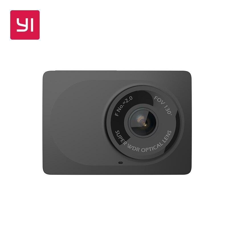 YI Compact Camera 1080p Full HD Car Cam Recorder Dash board with 2.7 inch LCD Screen 130 WDR Lens G-Sensor Night Vision Black
