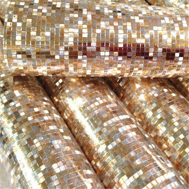 beibehang Mini mosaic Luxury glitter wallpaper background wall shiny gold foil wallpaper silver ceiling wall paper wallcovering bacaz sold color glitter wallpaper fabric golden wall paper glitter wedding carpets textile wall covering 137cmx10m by2173 1