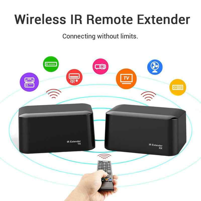 Baru Nirkabel IR Remote Extender Repeater HDMI Transmitter Receiver Kit Blaster Emitor Gdeals