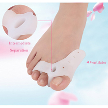 1Pair Silicone Big Toe Hallux Valgus Corrector Treatment Tools Foot Care Finger Separator Separators